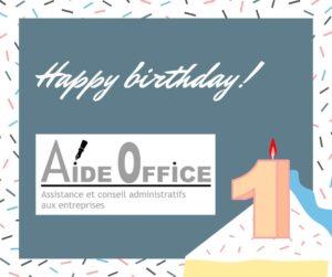 anniversaire Aide Office secrétaire indépendante