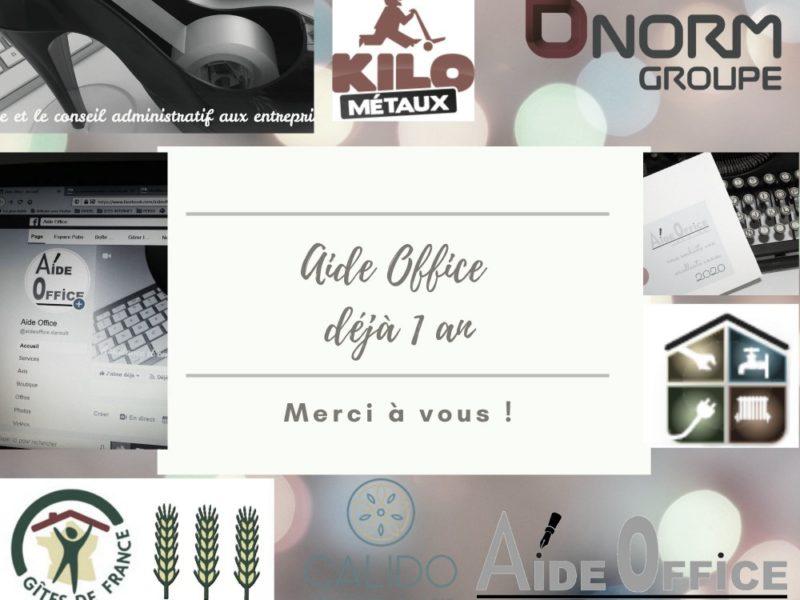 remerciements clients Aide Office