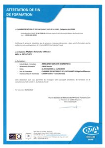 attestations de formation darault