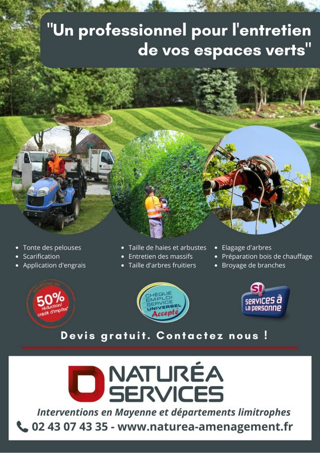 Flyer publicitaire Naturea Services