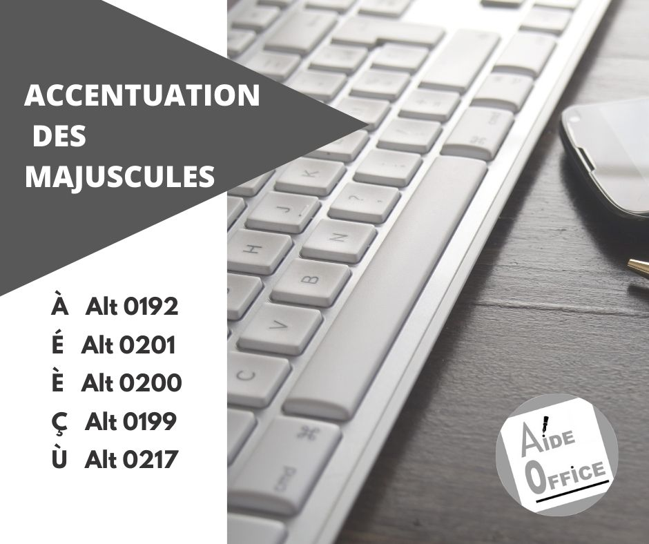 Accentuation des majuscules par code ASCII par Aide Office