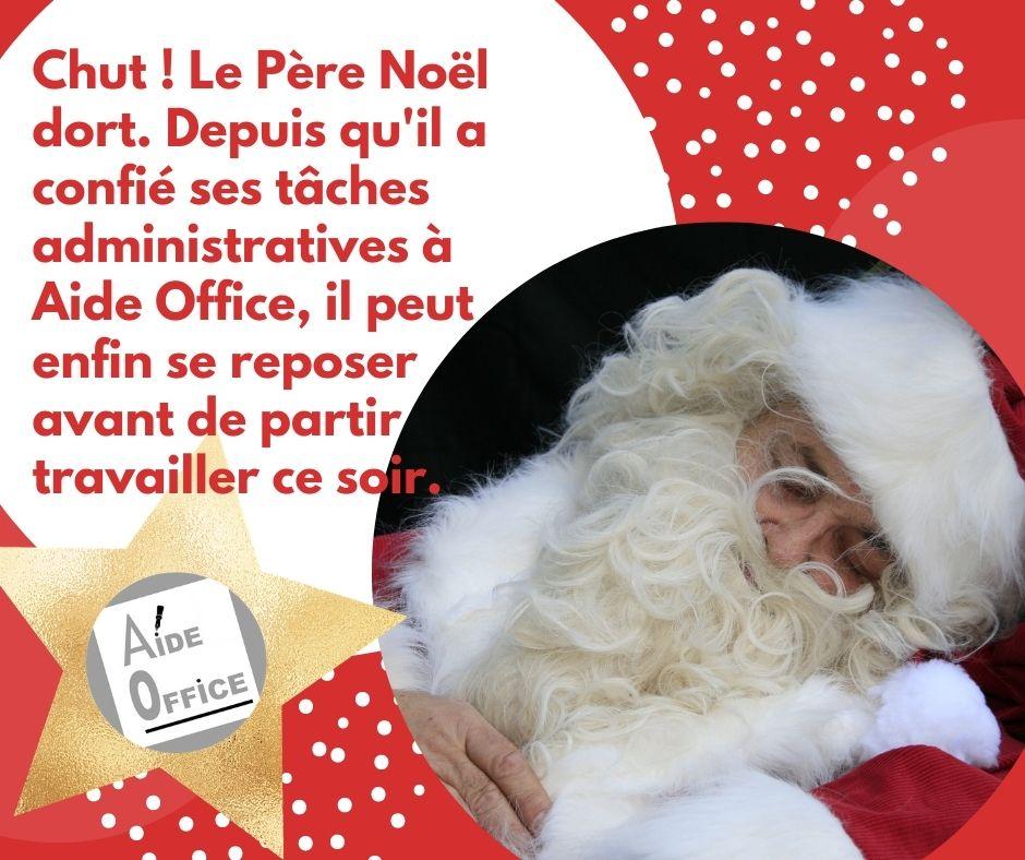 Le Père Noël en 2020 grâce à Aide Office