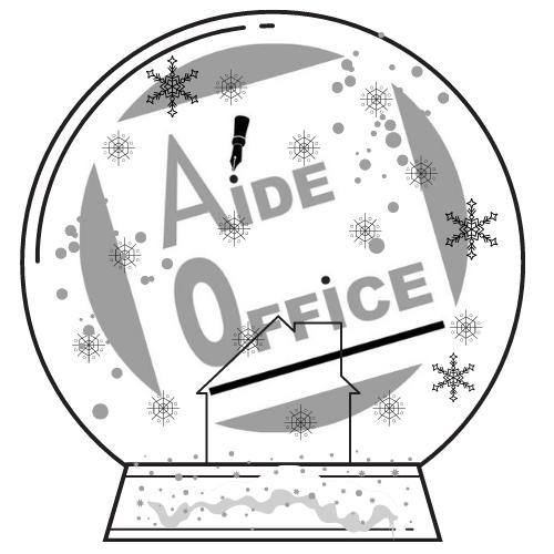 logo de Noël et fêtes de fin d'année de Aide Office